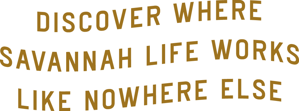 Discover where Savannah life works like nowhere else